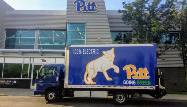 4 Electric Box Trucks Come to Pitt