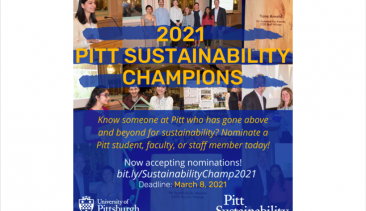 Nominate a 2021 Pitt Sustainability Champion